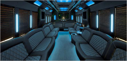 40 Passenger Party Bus Interior Novato