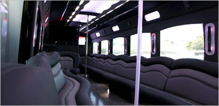 40 Passengers Party Bus Interior Novato