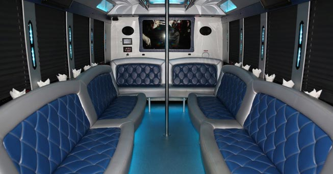 Novato 20 Passenger Party Bus Interior