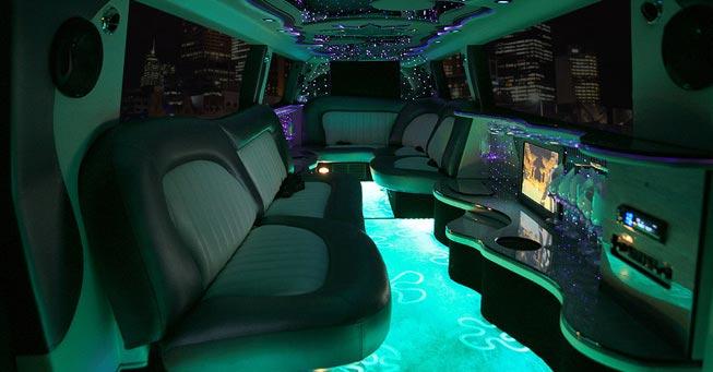 Novato Range Rover Stretch Limo Interior